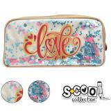 Penar borseta cu paiete, LOVE, 22x11x5,5cm - S-COOL