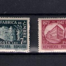 ROMANIA 1948 - 75 ANI DE LA INFIINTAREA FABRICII DE TIMBRE - MNH - LP 227