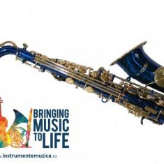 Saxofon Sopran curbat Karl Glaser ALBASTRU+AURIU NOU Sopranina Si b