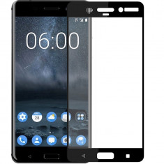 Folie de Sticla 9D Full Glue NOKIA 8 (Negru) Smart Glass