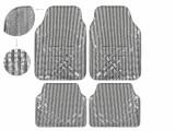 Covorase auto imitatie aluminiu Carbon, model universal 4buc, PVC