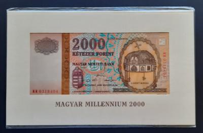 """Bancnota 2000 Forint """"Milennium"""",Ungaria, 2000 foto"""