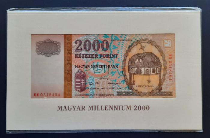 """Bancnota 2000 Forint """"Milennium"""",Ungaria, 2000"""