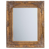 Oglinda Lovelle, rasina, auriu, dimensiuni 54 x 44 x 4 cm