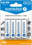 Acumulatori Everactive , R6, AA 2600 MAh Professional Line 4 Bucati / Set