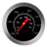 Termometru de insertie pentru cuptor, metalic, analogic, cu tija dreapta