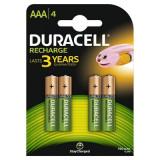 Set 4 acumulatori Duracell, tip AAA, 750 mAh