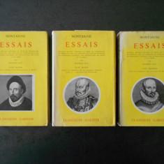 MONTAIGNE - ESSAIS  3 volume  (1958)  MONTAIGNE - ESEURI