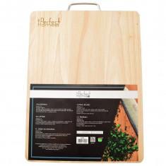 Tocator lemn 40*30*2cm maner metal Handy KitchenServ