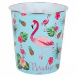 Cos de gunoi pentru birou, model flamingo, 6.3lt, multicolor