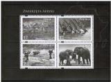 Polonia, fauna, elefanti, zebre, gheparzi, bloc, 2009, MNH**