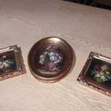 Tablouri ulei pe carton semnate, Flori, Realism