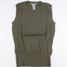 Top GAP din merinos 100% foarte fin si delicat, verde-oliv, Din imagine, S, Lana