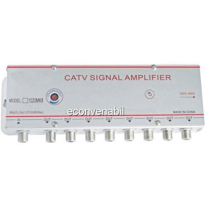 Amplificator Semnal TV Spliter 8 Iesiri 1020MK8 20dB foto