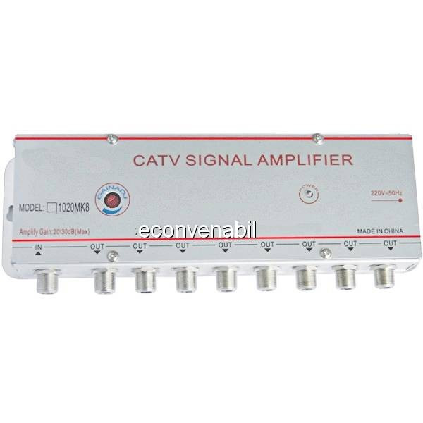 Amplificator Semnal TV Spliter 8 Iesiri 1020MK8 20dB