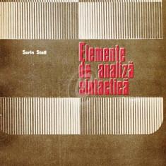 Elemente de analiza sintactica. Manual pentru profesorii de limba romana