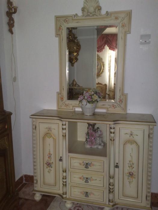 COMODA cu oglinda/baie/vintage/stil baroc venetian/shabby chic/pictate