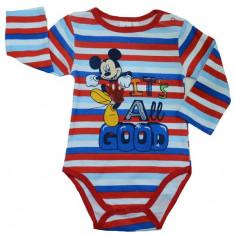 Body cu maneca lunga pentru baietei Mickey Mouse-DISNEY BBMM1-R, Rosu
