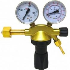 Reductor de presiune ALFARED EXTRA Ar/Co2 cu doua ceasuri si robinet suplimentar pt inchidere