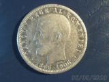 1  LEU  1906 , 40 ani DOMNIE  CAROL I , moneda argint