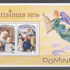 Dominica 1976 Christmas Religion perf. sheet MNH S.665, Nestampilat