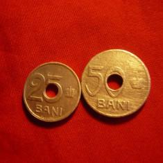 2 Monede 25 si 50 Bani 1921 , cal.medie-buna