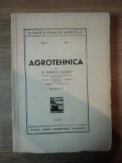 AGROTEHNICA de G. IONESCU SISESTI, VOL I NR. 1, EDITIA II 1947 foto