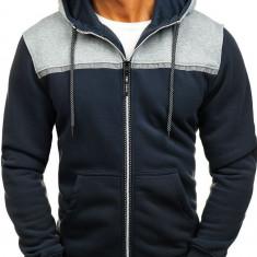 Bluză cu glugă și fermoar pentru bărbat grafit Bolf TC864