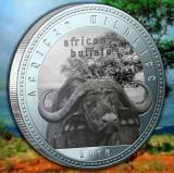 Zambia 1000 Kwacha 2014 UNC Bivol African 40mm argintiu