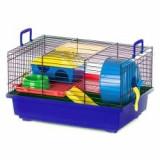 TEDDY cuşcă hamster cu accesorii din plastic
