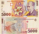 ROMANIA 5.000 lei 1998 UNC!!!
