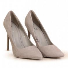 PDS106-18 Pantofi stiletto cu aspect matte
