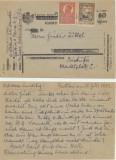 1921 ROMANIA carte postala maghiara sursarjata Cluj scrisa Brasov, nestampilata