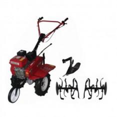 Motocultor Raider RD-T03, 7CP, Kit Accesorii freze si plug, 3 viteze