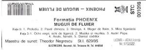 Caseta Phoenix – Mugur De Fluier, originala