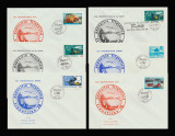 Set 6 plicuri tematica transporturi Expo Transfilex Iasi 1978, CFR, auto, aero