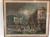 Tablou francez executat  in ulei,tehnica cu spaclu, Peisaje, Altul