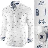 Cumpara ieftin Camasa pentru barbati, alba, slim fit, casual - London Town Cool, L, S, XL