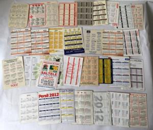 Lot 31 calendare de buzunar anii 2000-2016, colectie
