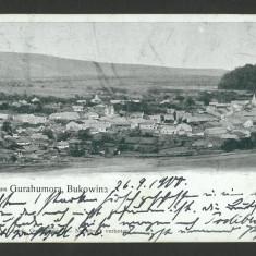 Carte Postala Veche Circulata 1900 BUKOWINA Bucovina Gruss Aus Gurahumora, Fotografie