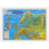 Europakarte fur kinder, Reliefkarte 3D-Format, 450x330mm (3DGHECP45-DE)
