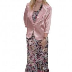 Costum de ocazie, eleganta, multicolora, cu sacou plamaniu