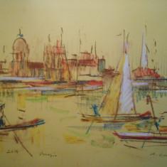 Augustin Costinescu, Venetia 2014, guasa/carton, 50x37 cm, neinramat
