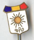 Insigna veche perioada Regala BPD Blocul Partidelor Democratice 1945 - SUPERBA