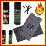 Electrosoc Lanterna  Autoaparare Foarte Puternic+Spray Paralizant Cu Piper, Cu lanterna