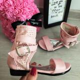 Cumpara ieftin Sandale roz inalte elegante cu catarama pt fete  25 26 27 28 29 30