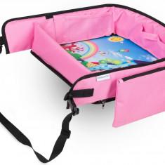 Masuta Calatorie Tavita ROZ de copii pentru masina si carut KIDSMARTER. Perfecta pentru joaca, mancare, desen, cand sunteti pe drum