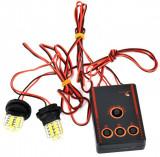 Stroboscoape LED 12V lumina rosie-albastra cod HY168