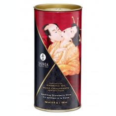 Ulei masaj Shunga Sparkling Strawberry Wine / capsuni