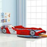 Cumpara ieftin Pat pentru copii mașină de curse, roșu, 90 x 200 cm